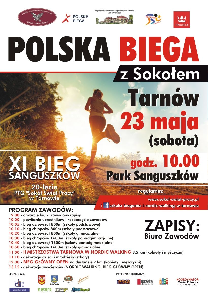 Polska biega z Sokołem - Tarnów 23 Maj 2015